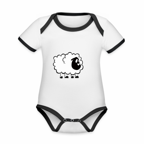 Pequeña Oveja - Body contraste para bebé de tejido orgánico