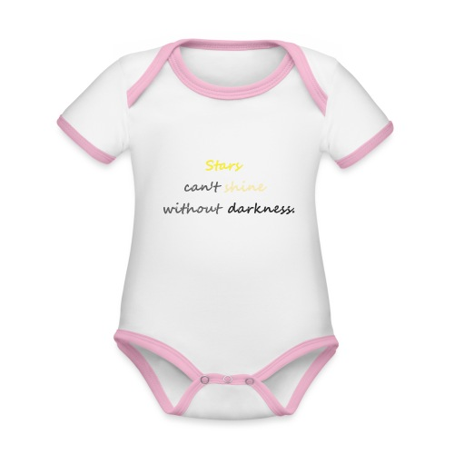 Stars can not shine without darkness - Organic Baby Contrasting Bodysuit