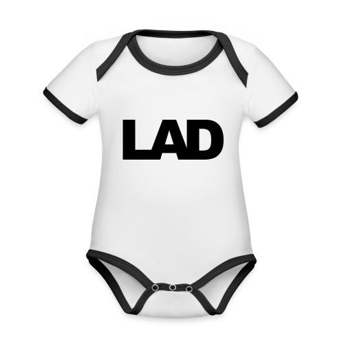 lad - Organic Baby Contrasting Bodysuit