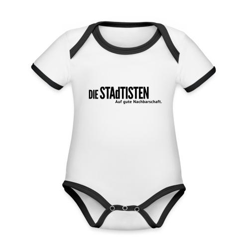 Stadtisten Nachbarschaft - Baby Bio-Kurzarm-Kontrastbody