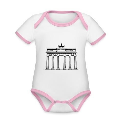 Brandenburger Tor Berlin Victoria Streitwagen - Baby Bio-Kurzarm-Kontrastbody