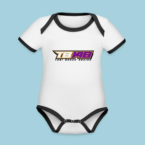 Tobi Logo schwarz - Baby Bio-Kurzarm-Kontrastbody