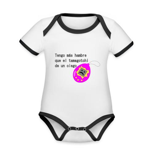 tamagotchi - Body contraste para bebé de tejido orgánico