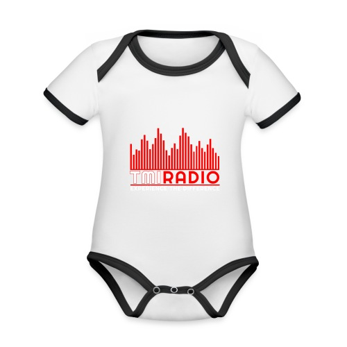 NEW TMI LOGO RED AND WHITE 2000 - Organic Baby Contrasting Bodysuit