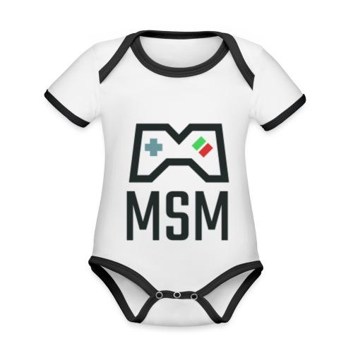 MSM GAMING CONTROLLER - Kortærmet økologisk babybody i kontrastfarver