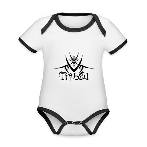 Motif Tribal 1 - Body Bébé bio contrasté manches courtes