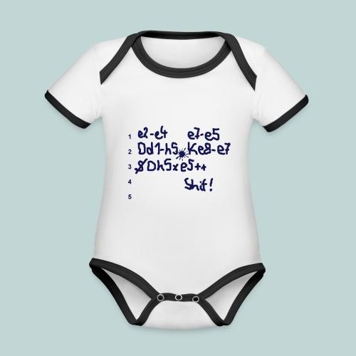 Schachpartie - Baby Bio-Kurzarm-Kontrastbody
