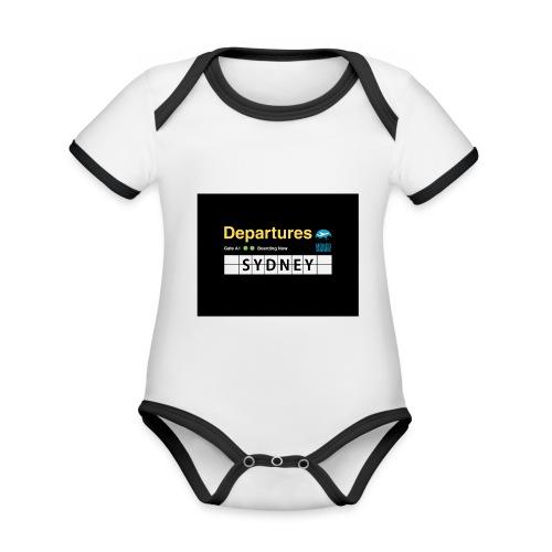 SYDNEY png - Body da neonato a manica corta, ecologico e in contrasto cromatico