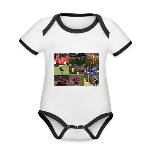 min resa - babybody - Ekologisk kontrastfärgad kortärmad babybody