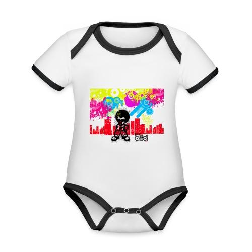 Borse personalizzate con foto Dancefloor - Body da neonato a manica corta, ecologico e in contrasto cromatico