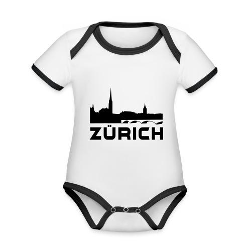 Zürich - Baby Bio-Kurzarm-Kontrastbody