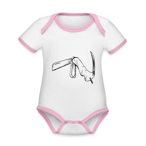 jacknife - Body da neonato a manica corta, ecologico e in contrasto cromatico