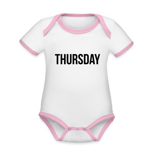 Thursday - Organic Baby Contrasting Bodysuit