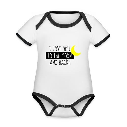moon - Baby Bio-Kurzarm-Kontrastbody
