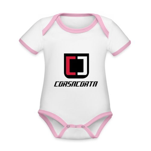Cover Smartphone - Corsacorta - Body da neonato a manica corta, ecologico e in contrasto cromatico