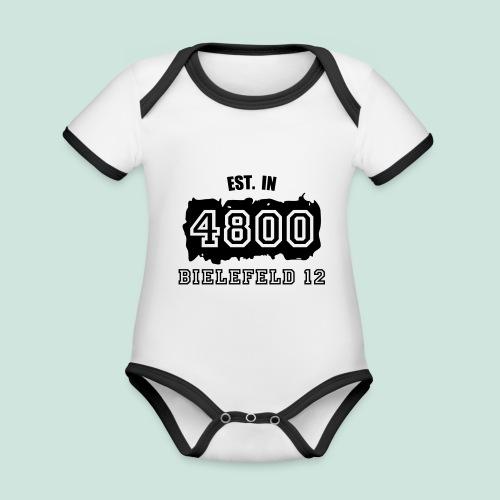 Established 4800 Bielefeld 12 - Baby Bio-Kurzarm-Kontrastbody