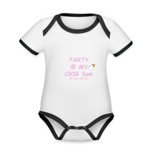 Baby Party @ crib vest - Organic Baby Contrasting Bodysuit