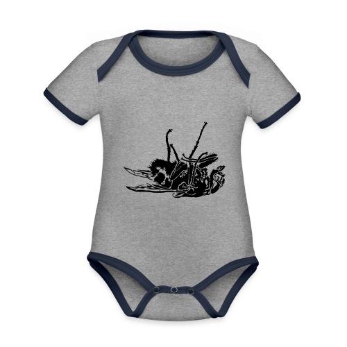 mouche morte - Body Bébé bio contrasté manches courtes