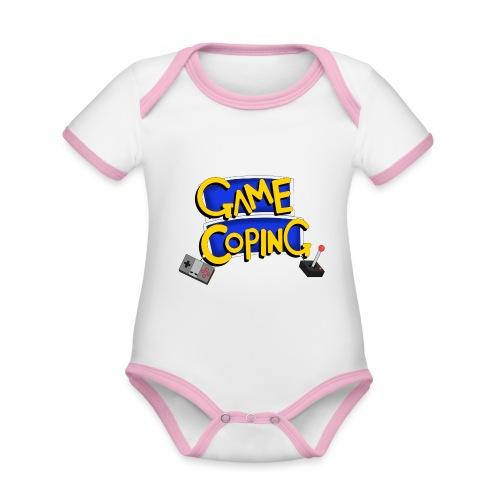 Game Coping Logo - Organic Baby Contrasting Bodysuit