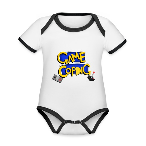 Game Coping Logo - Organic Baby Contrasting Bodysuit
