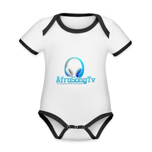logo - Body contraste para bebé de tejido orgánico