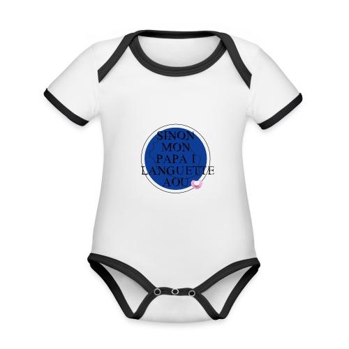 OBLIGATION - Body Bébé bio contrasté manches courtes