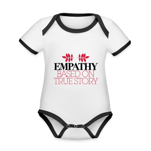 empathy story - Ekologiczne body niemowlęce z krótkim rękawem i kontrastowymi lamówkami