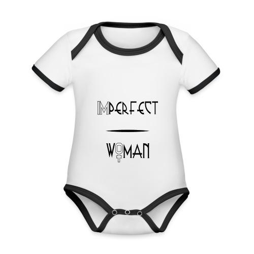 imperfect woman - Body da neonato a manica corta, ecologico e in contrasto cromatico