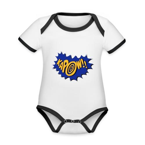 kapow - Organic Baby Contrasting Bodysuit