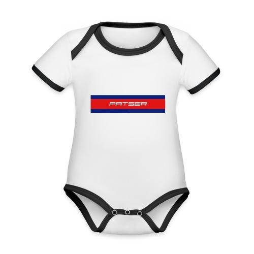 PATSER - Baby contrasterend bio-rompertje met korte mouwen