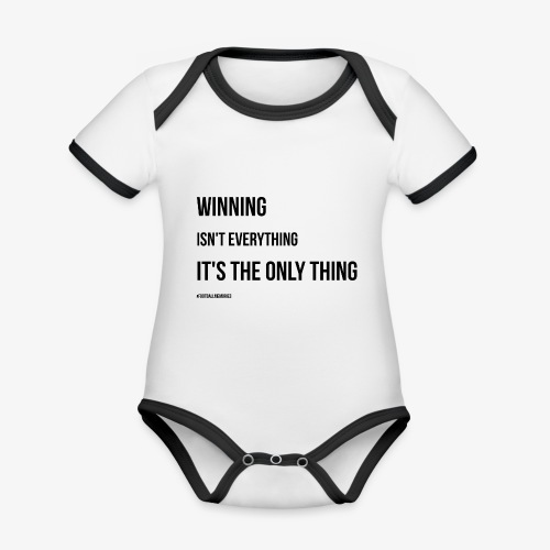 Football Victory Quotation - Organic Baby Contrasting Bodysuit