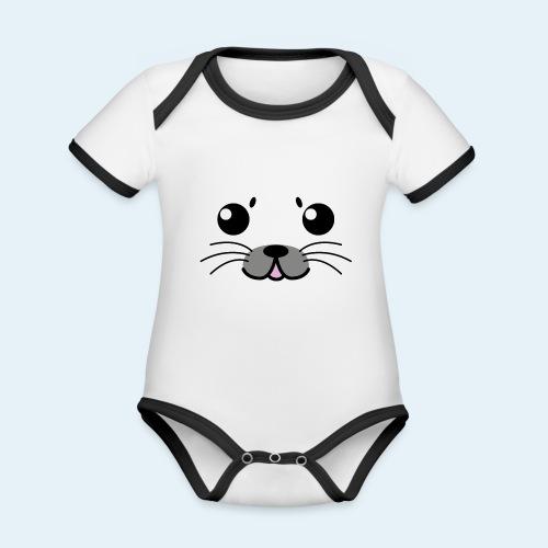 Foca bebé (Cachorros) - Body contraste para bebé de tejido orgánico