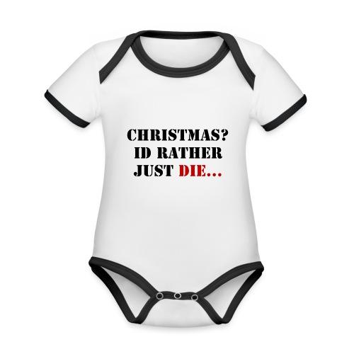 Christmas joy - Organic Baby Contrasting Bodysuit