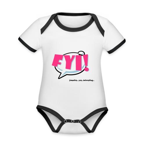 FYI.ai - Vauvan kontrastivärinen, lyhythihainen luomu-body