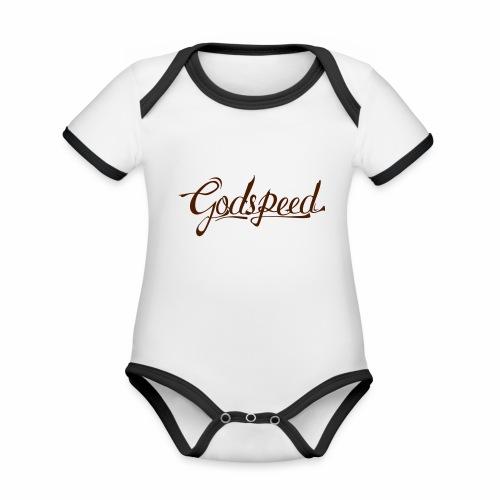 Godspeed 2 - Vauvan kontrastivärinen, lyhythihainen luomu-body