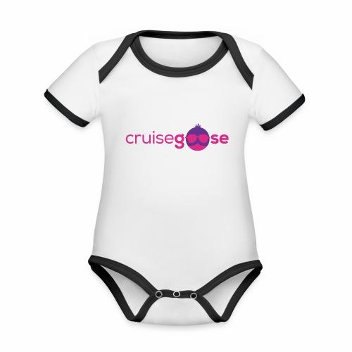 cruisegoose 01 - Baby Bio-Kurzarm-Kontrastbody