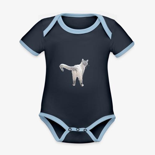 snow1 - Organic Baby Contrasting Bodysuit