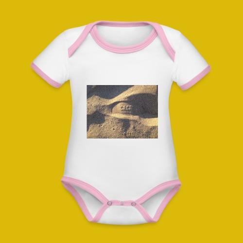Caca - Body Bébé bio contrasté manches courtes