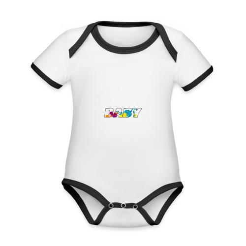 LOGO BABY GARCON - Body Bébé bio contrasté manches courtes