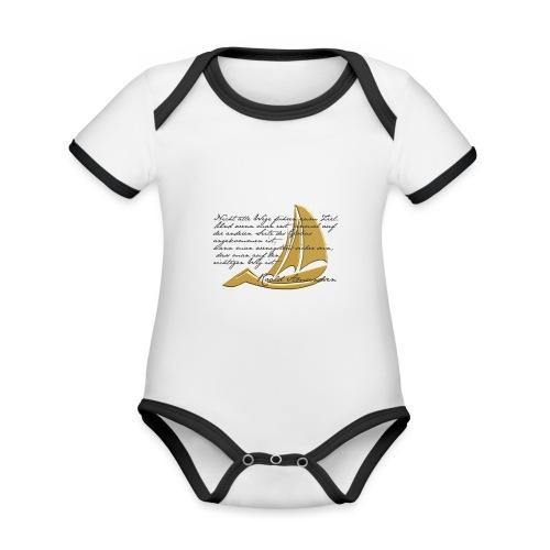 weltumsegeln - Baby Bio-Kurzarm-Kontrastbody