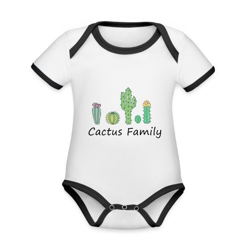 Cactus family - Baby Bio-Kurzarm-Kontrastbody