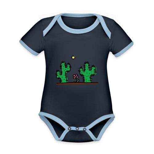 Cactus - Body da neonato a manica corta, ecologico e in contrasto cromatico
