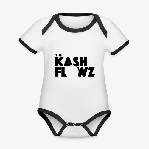 The Kash Flowz Official Black - Body Bébé bio contrasté manches courtes