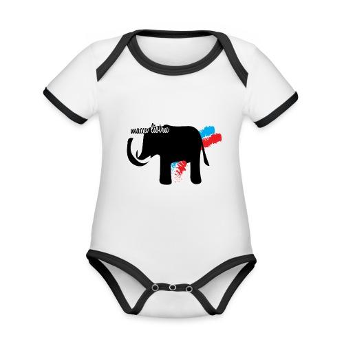 Macca Liotru - Body da neonato a manica corta, ecologico e in contrasto cromatico