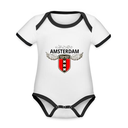 Amsterdam Netherlands - Baby Bio-Kurzarm-Kontrastbody