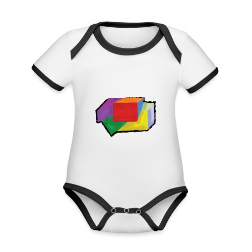 boxes with stroke - Organic Baby Contrasting Bodysuit