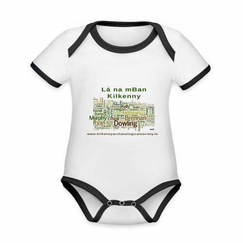 Lá na mban Kilkenny Wordle - Organic Baby Contrasting Bodysuit