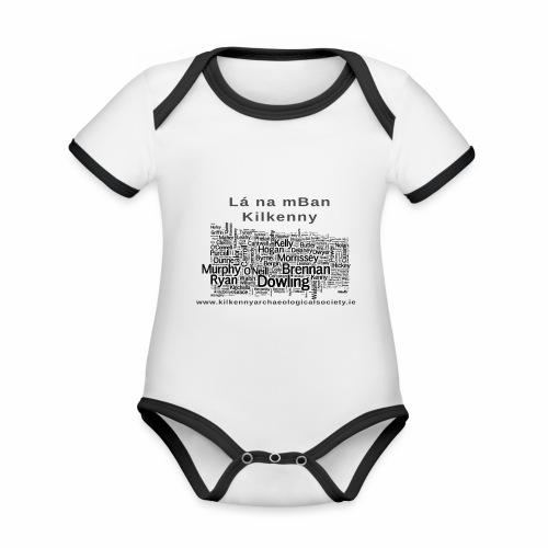Lá na mBan black - Organic Baby Contrasting Bodysuit