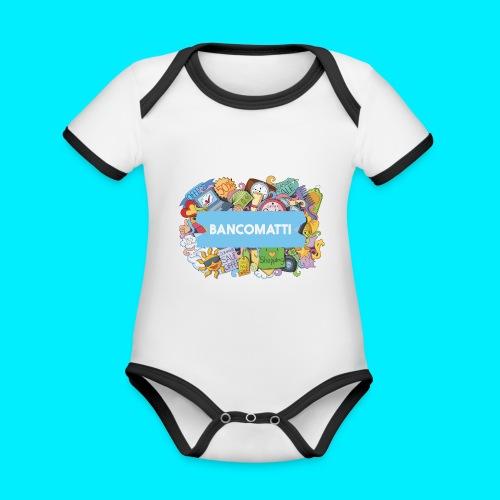 Bancomatti DOODLE 1 - Body da neonato a manica corta, ecologico e in contrasto cromatico
