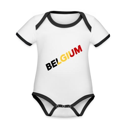 BELGIUM - Body Bébé bio contrasté manches courtes